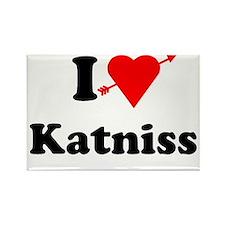 I Heart Love Katniss Rectangle Magnet