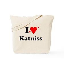 I Heart Love Katniss Tote Bag