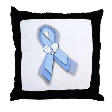 Trisomy 18 Ribbon Throw Pillow