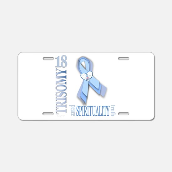 T18 Awareness Ribbon Aluminum License Plate