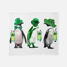 Irish penguins Throw Blanket