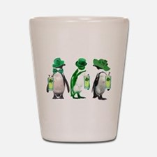 Irish penguins Shot Glass