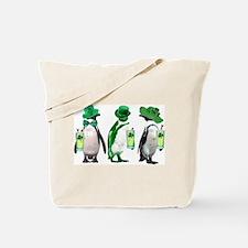 Irish penguins Tote Bag
