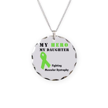 Hero My Daughter Necklace Circle Charm