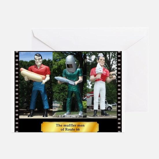 The Muffler Men Greeting Cards (Pk of 10)