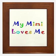 My Mimi Loves Me! (Multi) Framed Tile