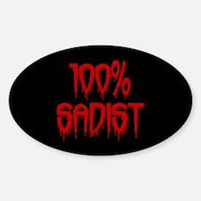 100% Sadist Decal