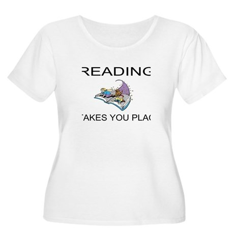 Reading Takes You Places Women's Plus Size Scoop N