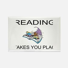 Reading Takes You Places Rectangle Magnet