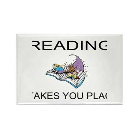 Reading Takes You Places Rectangle Magnet (100 pac
