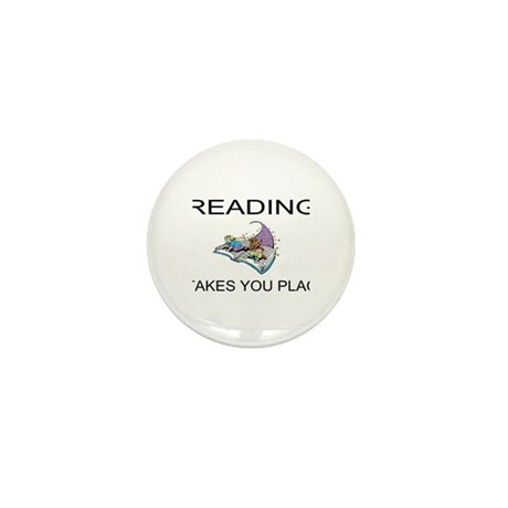 Reading Takes You Places Mini Button (100 pack)
