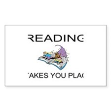 Reading Takes You Places Decal