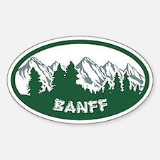 Banff Natl Park Sticker (Oval)