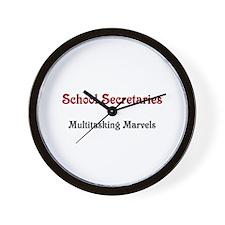 School Sec. Multitasking Marvels Wall Clock