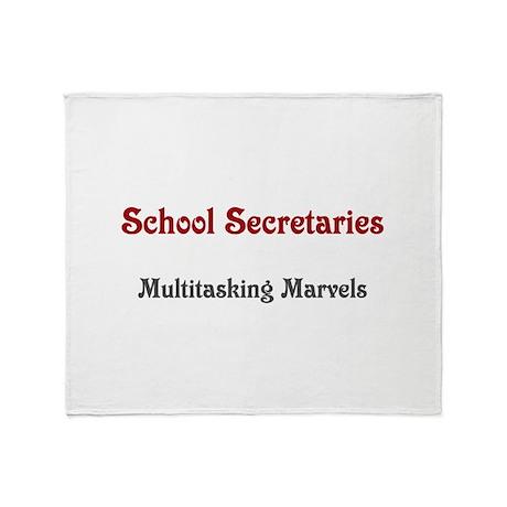School Sec. Multitasking Marvels Throw Blanket