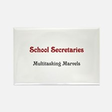 School Sec. Multitasking Marvels Rectangle Magnet