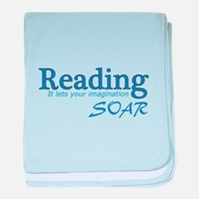 Reading Imagination baby blanket