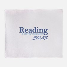 Reading Imagination Throw Blanket