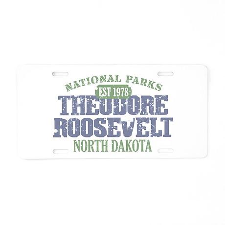 Theodore Roosevelt Park ND Aluminum License Plate
