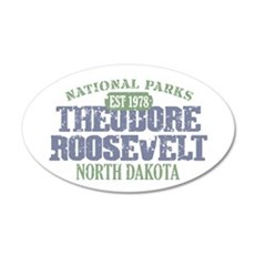 Theodore Roosevelt Park ND 22x14 Oval Wall Peel