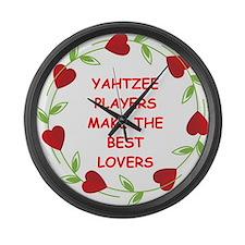 yahtzee Large Wall Clock