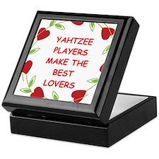 yahtzee Keepsake Box