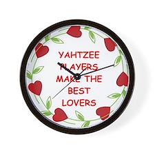 yahtzee Wall Clock