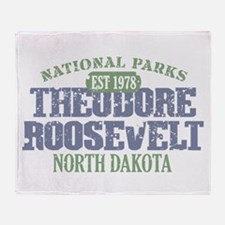 Theodore Roosevelt Park ND Throw Blanket
