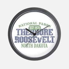 Theodore Roosevelt Park ND Wall Clock