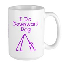 Purple Downward Dog Mug