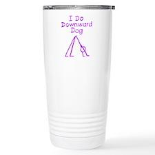 Purple Downward Dog Travel Mug