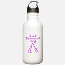 Purple Downward Dog Water Bottle
