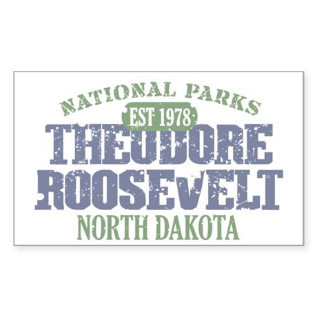 Theodore Roosevelt Park ND Sticker (Rectangle)
