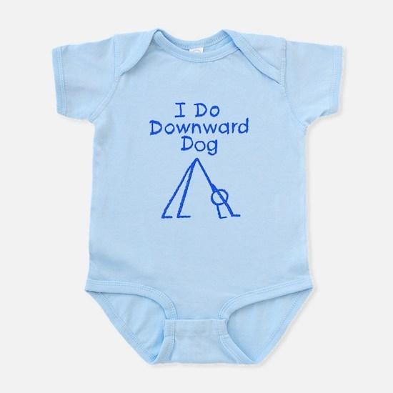Blue Downward Dog Infant Bodysuit