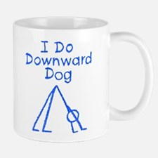 Blue Downward Dog Mug