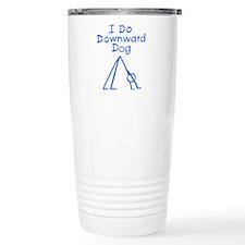 Blue Downward Dog Travel Mug