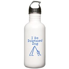Blue Downward Dog Water Bottle
