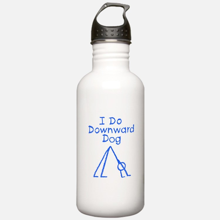 Blue Downward Dog Water Bottle