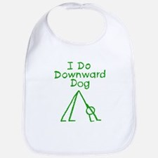 Green Downward Dog Bib