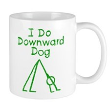 Green Downward Dog Mug