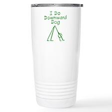 Green Downward Dog Travel Coffee Mug