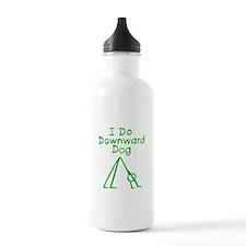 Green Downward Dog Water Bottle