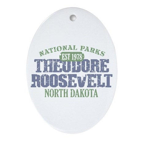 Theodore Roosevelt Park ND Ornament (Oval)