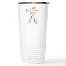 Orange Downward Dog Travel Mug