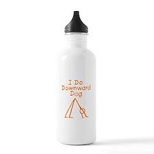 Orange Downward Dog Water Bottle