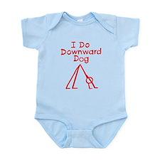 Red Downward Dog Infant Bodysuit