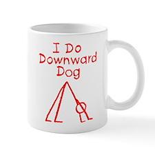 Red Downward Dog Mug