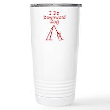 Red Downward Dog Travel Mug