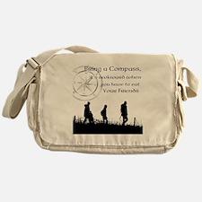 Compass Awkward Messenger Bag