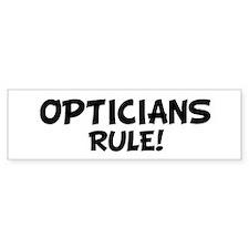 OPTICIANS Rule! Bumper Car Sticker